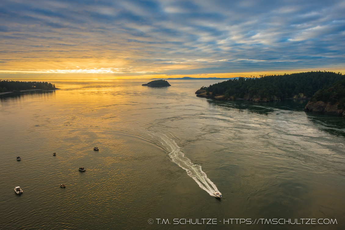 Deception Pass Sunset by T.M. Schultze