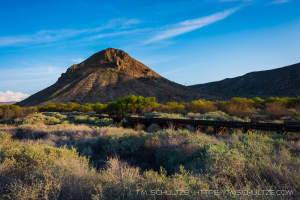 Round Mountain, Carrizo Creek, Railway, by T.M. Schultze