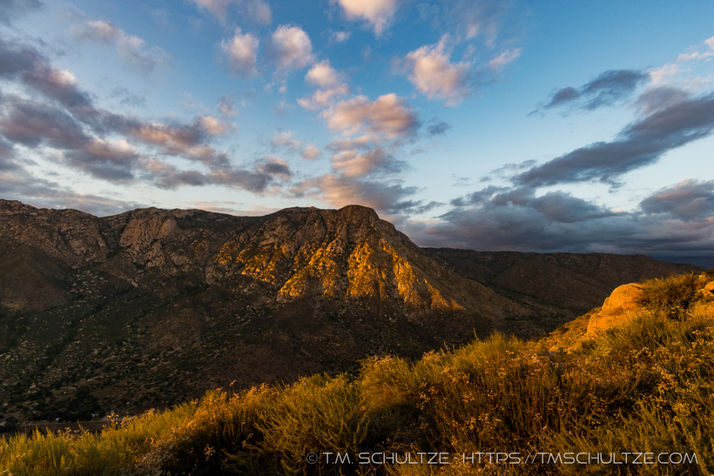 El Cajon Mountain Last Light