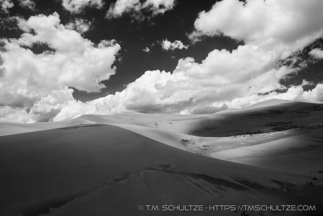 Great Sand Dunes - Light and Shadow No. 1 - Beauty and Cloudscapes