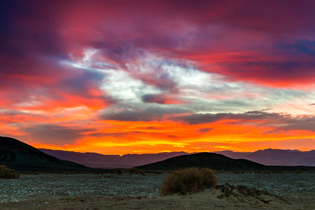 Death Valley Sunrise, Mesquite, by T.M. Schultze