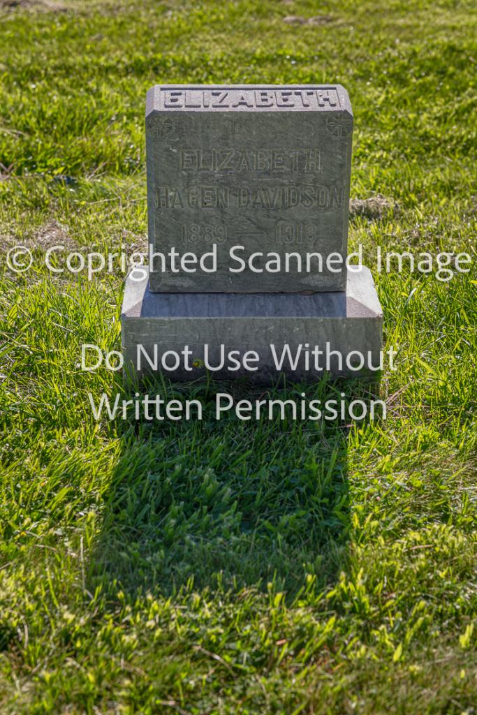 Elizabeth Hagen Davidson Grave Marker