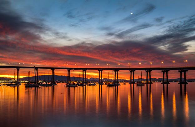 Bridge at Dawn by T.M. Schultze