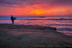 Surfer Sunset Cliffs