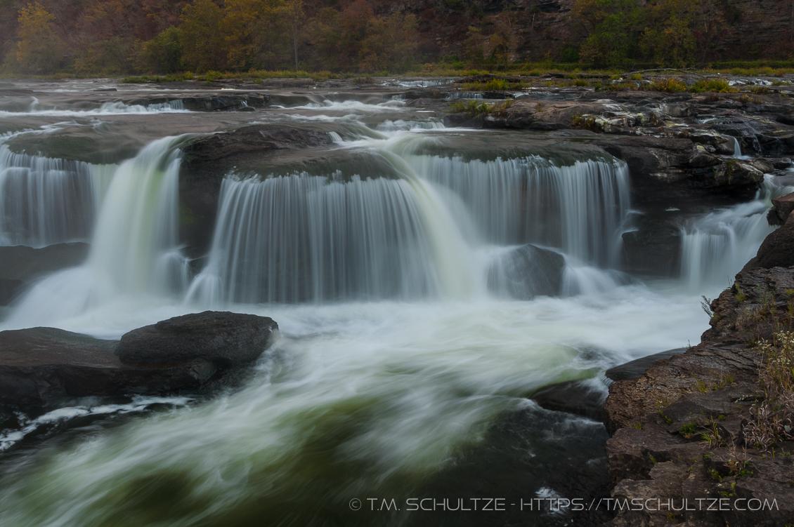 Sandstone Falls, New River, by T.M. Schultze