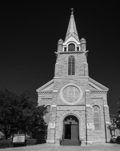 Trinidad Holy Trinity Catholic Church, Black and White, by T.M. Schultze