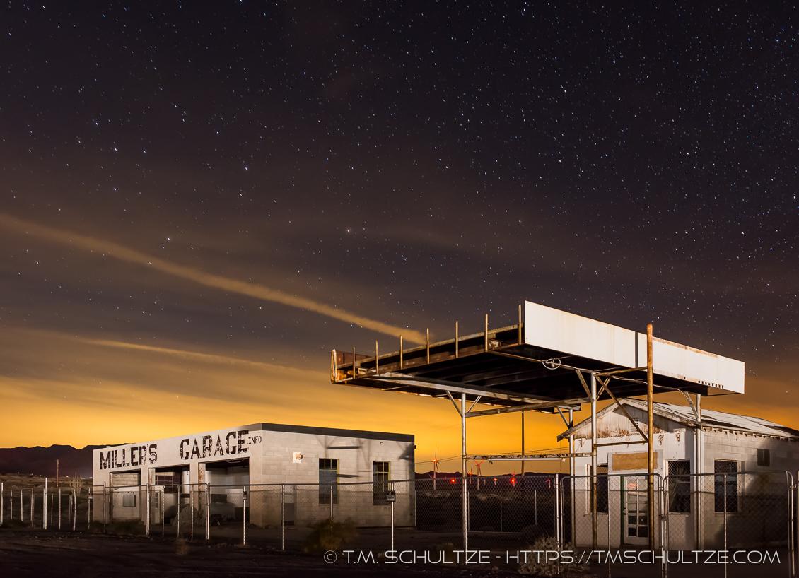 Miller's Garage by Night